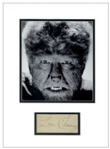 Lon Chaney Jr. Autograph Signed Display